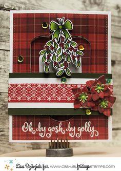 Mistletoe Holly Stamps Fri Dies