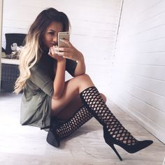 Yessss!  Caged black heels.  Follow @divinewanderer2 for more❣ #heels #shoes #boots