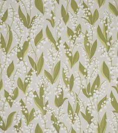 Lily of the valley wallpaper from Sandbergs is a fun and romantic design that comes in three different colors, grey, black and beige. wallpaper Lily of the valley wallpaper-light grey Green Wallpaper, Flower Wallpaper, Pattern Wallpaper, Feature Wallpaper, Flower Power, Climbing Roses, Motif Floral, Lily Of The Valley, Art