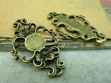 10pcs 27*43mm Vintage Bronze Alloy Filigree Flower Jewelry Connectors Jewelry Findings Fit Metal Jewelry Components 3039 //FREE Shipping Worldwide //