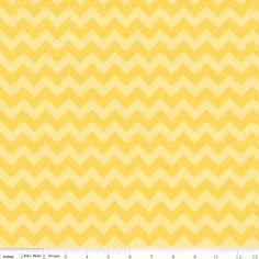 Riley Blake Designs - Chevron - Small Chevron Tone on Tone in Yellow