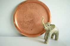 Hammered Copper Round Tray Coppercraft Guild Copper Tray