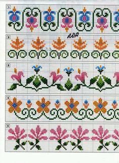 Brilliant Cross Stitch Embroidery Tips Ideas. Mesmerizing Cross Stitch Embroidery Tips Ideas. Cross Stitch Boarders, Mini Cross Stitch, Cross Stitch Flowers, Cross Stitch Charts, Cross Stitch Designs, Cross Stitching, Cross Stitch Embroidery, Hand Embroidery, Cross Stitch Patterns