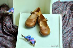 Brown leather Mary Janes - Zecchino d'oro - Via Raaf en Vos