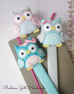 Barbara Handmade...: Owl bookmarks