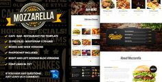 """Mozzarella Cafe Bar PSD Template . Update November 26th 2014:We included one more PSD file in the pack: """"26- Our Specials Version 2"""". This includes a new version of the Our Specials wooden board menu. This design is also a perfect fit for responsive webs because each board is 280px wide. Hope you like"""