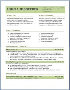 free professional resume templates download - Resume Word Template Free