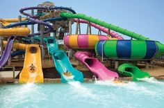 Cool out door stuff night | Cool outdoor swimming pool with water slides