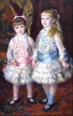 Pierre-Auguste Renoir, Rosa e azul (As meninas Cahen d´Anvers) – 1881