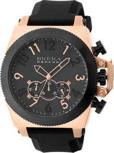BRERA - Militare Rose Gold & Black    €443.90  CASE MATERIAL: Rose Gold IP  DIAL: Black  CASE SIZE: 50mm  MOVEMENT: Miyota Quartz JS50  STRAP: Black Rubber  CRYSTAL: Cambered K1 Anti-Reflective  CROWN: 7mm  Water Resistant: 10 ATM     (Para residentes em Portugal, ao preço listado acresce o IVA à Taxa em vigor)