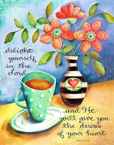 Proverbs 31 Woman Discover Delight Yourself in the Lord Coffee Christian Scripture Inspirational Art Print Bible Verses Quotes, Bible Scriptures, Scripture Images, Faith Quotes, Favorite Bible Verses, Bible Art, Christian Inspiration, Good Morning Quotes, Word Of God