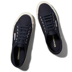 Abercrombie & Fitch Superga Cotu Classic Sneaker ($65) ❤ liked on Polyvore featuring shoes, sneakers, abercrombie, superga, zapatillas, navy, navy blue sneakers, navy shoes, navy blue shoes and navy sneakers