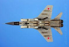 MiG-31BSM armed with long range R-33 Amos missiles.