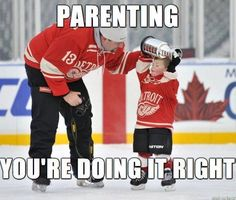 Good Parenting, bad team to win the Stanley Cup. The Chicago Blackhawks are more… Detroit Red Wings, Stanley Cup, Hockey Memes, Funny Hockey, Detroit Sports, Detroit Hockey, Detroit News, Sports Teams, Hockey Boards
