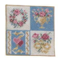 Square Pole Screen, Four in One </b> Mini Cross Stitch, Needlework, Stitching, Miniatures, Kids Rugs, Embroidery, Small Cross Stitch, Dots, Patterns