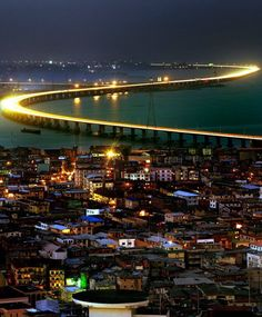 Third Mainland Bridge: Lagos, Nigeria.  Book flights to Lagos>> http://www.travelstart.co.za/lp/lagos/flights
