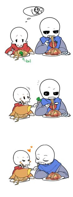 Gaster: SANDMS DONT EAT YOUR BROTHERS FOOD THATS HIS PAPURUS DONT GIVE SANS YOUR FOOD  ............,