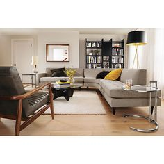 Reese curved is really cool-just put it in a clients home.....very modern/Dick Van Dike feel Reese Curved Sectional - Modern Sectionals - Modern Living Room Furniture - Room…