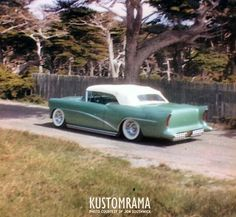 Jon Southwick of El Cerrito California  1954BuickCustom. The result was featured in Custom Cars January 1960 and it even found it's way into one of George Barris' books. Earlier this week Jon sent us some photos of the car from his private collection and as you can see the rear bumper was replaced with a cavity that Jon made and filled with 1956 Buick bumper guard centers #elcerritocustom #CaliforniaCustom #kustomrama #hamb #hopuplive #roddersjournal #gasolinemagazin