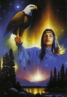 .Indianerin mit Weißkopf Seeadler