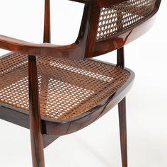 """Joaquim Tenreiro Pair of """"Cadeiras com Braços,"""" (Armchairs) circa 1958 image 5"""