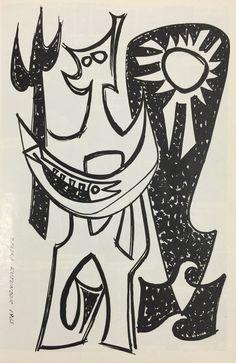 Zeljko Kujundzic. Rutland High School yearbook illustration, 1965.
