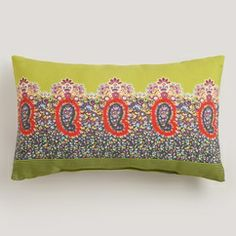 Bring this bright pattern outdoors by placing it on an outdoor bench or chair!  Deciture.com