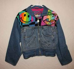 '90s denim jacket, $175 | The 16 Most Expensive Pieces Of Vintage Lisa Frank Merchandise Out There