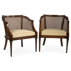 Check out this item at One Kings Lane! Antique Cane Side Chairs, S/2