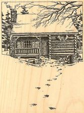 rubber stamp log cabin - Google Search