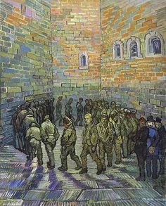 Van Gogh, Vincent (1853-1890) - 1890 The Prison Courtyard (Pushkin Museum of Fine Art) by RasMarley, via Flickr