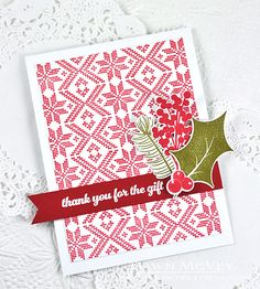 Thank You For The Gift Card by Dawn McVey for Papertrey Ink (October 2015)