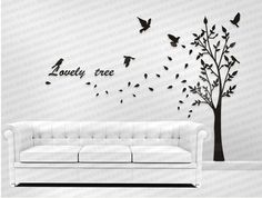 wall decals  wall stickers  tree wall art   Garden by COLINCJH, $150.00