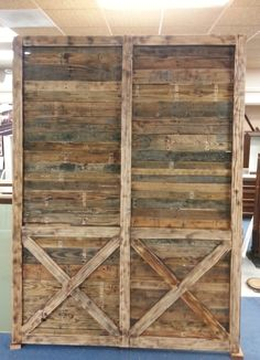 """76"""" wide x 103"""" high Barn Door we created and built for Green Valley Church in San Diego."""