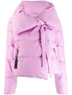 Bacon Oversized Collar Down Jacket In Pink Puffer Jackets, Outerwear Jackets, Active Wear For Women, Women Wear, Long Down Coat, Size Clothing, Bacon, Long Sleeve, Sleeves