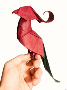 Baby Parrot designed by me for the Valencia AEP Origami Convention-2016. Diagrams are available on the convention book. Video tutorial: Coming soon by Riccardo Foschi