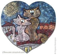 Картина панно рисунок Лепка Влюбленная парочка  Тесто соленое фото 1
