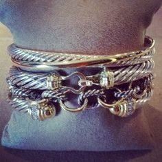 david yurman stacked bracelets - Google Search