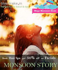 IN: Online Ayurvedic & Natural Beauty salon and spa for ladies. time in your city Bluedrake provides the best beauty services at your doorstep. Call us to book ☎ Body Massage Spa, Hair Spa, Facials, Monsoon, Books Online, Body Care, Herbalism, Salons, Hair Care