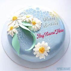 Birthday Cake Write Name, Heart Birthday Cake, Friends Birthday Cake, Birthday Cake Writing, Birthday Cake With Photo, Birthday Cake With Candles, Birthday Wishes, Birthday Gifts, Green Birthday Cakes