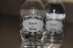 Bling Party, This Is Your Life, Black B, Water Bottle Labels, Google, Image