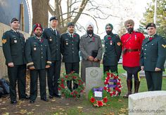 Canadian Forces soldiers, R.C.M.P. and SikhMuseum.com Curator at 2010 Sikh Remembrance Day Ceremony sponsored by SikhMuseum.com