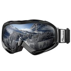 956c94f28d09 From Outdoormaster Otg Ski Goggles - Over Glasses Ski   Snowboard Goggles  For Men Women   Youth - Uv Protection (black Frame Vlt Grey Len With Revo  Silver)