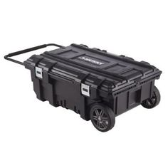 Keep all your gear secure in the garage or on jobsite using this Mobile Job Box designed by Husky. Comes with extendable metal tubular handle. Mobile Tool Box, Dewalt Tough System, Tool Boxes For Sale, Plastic Tool Box, Rolling Tool Box, Camper Awnings, Mobile Storage, Tool Storage, Storage Chest