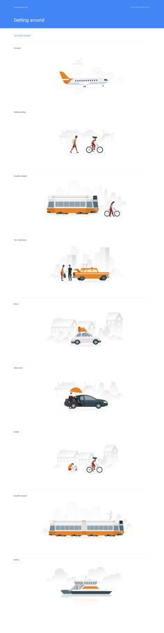 Illustrations getting sticker sheet