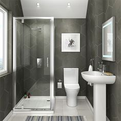 Example Of A Orion Spacesaving Ensuite Bathroomvictorian Plumbing Uk on Home Design Beauty 47 En Suite Bathroom White Bathroom, Modern Bathroom, Small Bathroom, Warm Bathroom, Glass Bathroom, Master Bathroom, Bathroom Plans, Ensuite Bathrooms, Bathroom Ideas