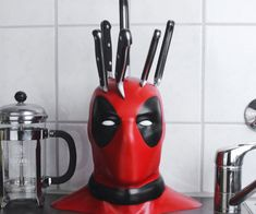 Bring a little dark humor into your kitchen by learning how to make your own Deadpool knife block. This free download offers a step-by-step guide on how to craft your very own Deadpool head using a 3D printed bust and a little skill.
