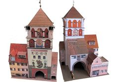 Lindauer Tor (Martinstor) Free Building Paper Model Download