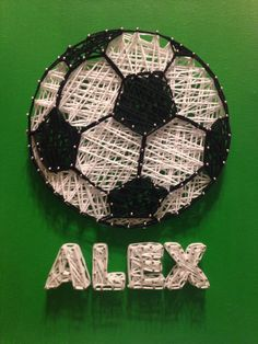 Soccer Ball String Art by stringyourheartout on Etsy https://www.etsy.com/listing/215047931/soccer-ball-string-art