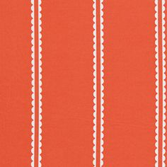 curtain fabric. little folks voile, pastry line coral.